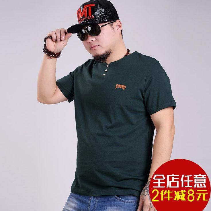 Летом удобрения для увеличения код, мужские с короткими рукавами футболки людей с избыточным весом жира Чокнутый крупных мужчин с короткими рукавами футболки рубашки -tmall.com половина Lynx