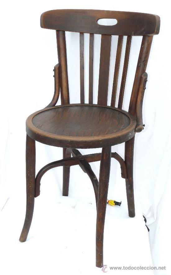 Silla antigua en madera curva de principios del siglo xx - Restaurar sillas antiguas ...