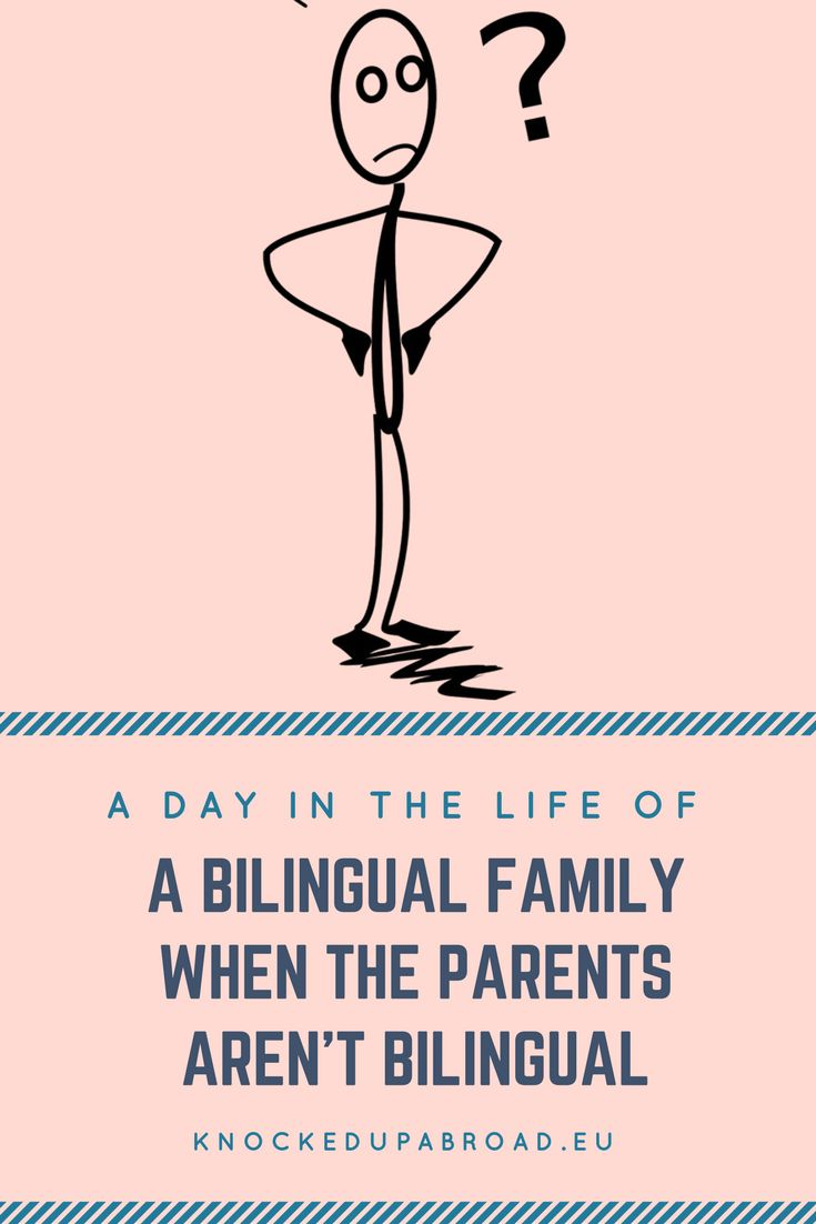 A Day in the life of a bilingual family when the parents aren't bilingual | Knocked Up Abroad
