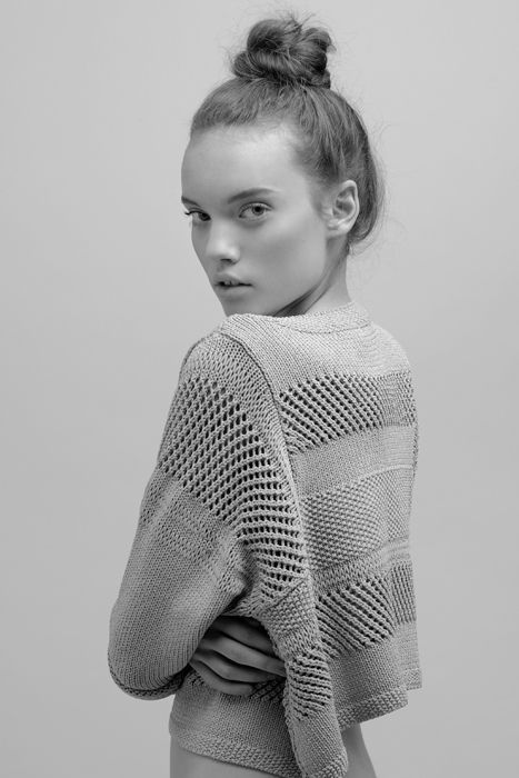 Cropped Textured Sweater. Hand pinned by Feron Clark Style.