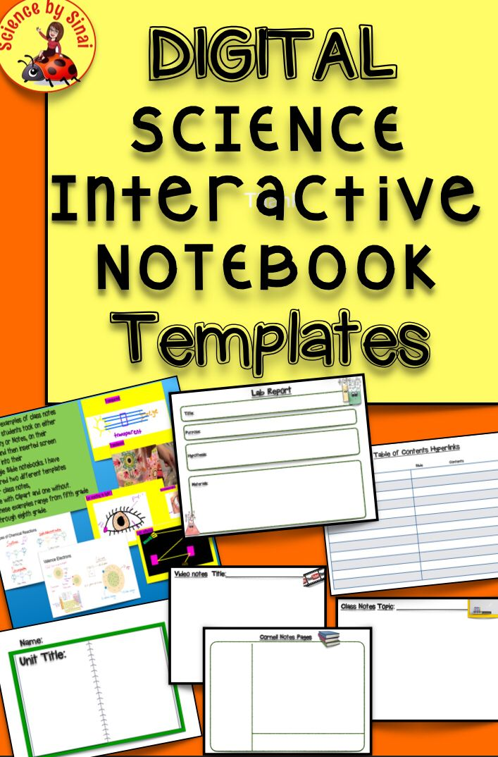 DIGITAL SCIENCE NOTEBOOK TEMPLATE Google Slides, Student