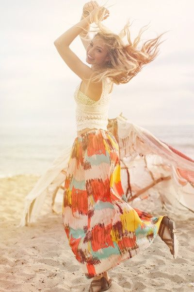 dancing pursuit-of-happiness: Fashion, Style, Clothes, Summer, Beach, Boho, Dance, Free Spirit