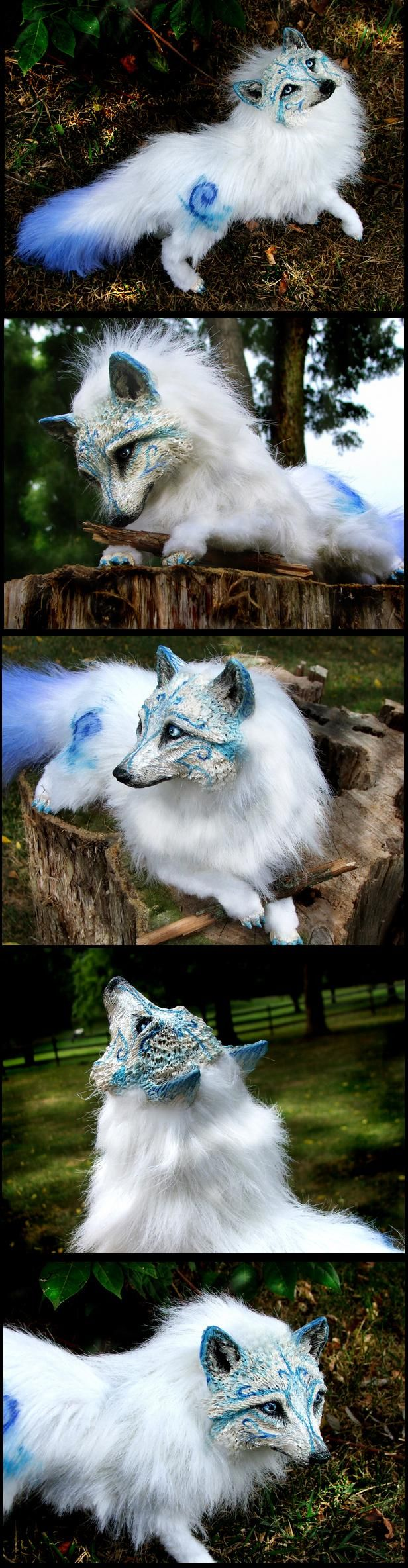 Posable White Wolf - Wood-Splitter-Lee