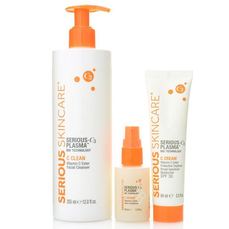 Serious Skincare 3 Piece Serious C3 Plasma Regimen Evine Serious Skin Care Moisturizer With Spf Skin Care