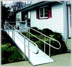 Residential outdoor ramps are designed to improve accessibility in homes.