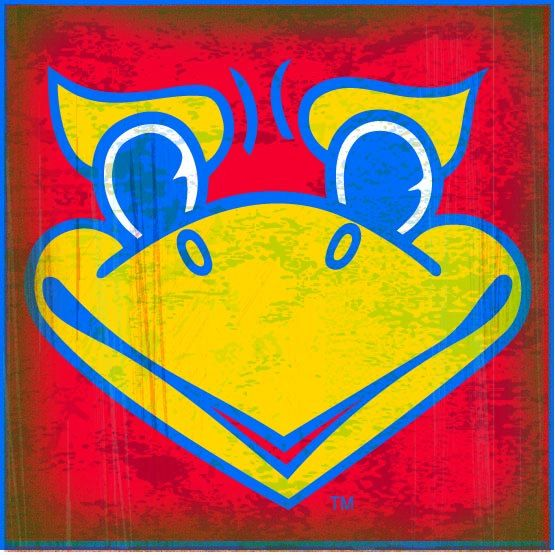 Ku Coaster Collection Jayhawk Face Red Ku 26 Single