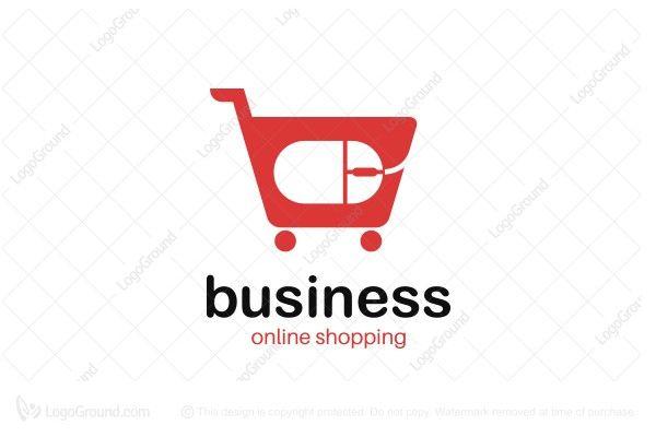 Logo for sale: Online Shopping Cart Logo