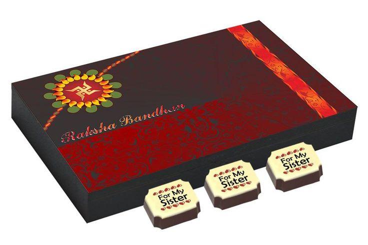 Best rakhi gift - 12 Chocolate Gift Box - Rakhi gifts for sister