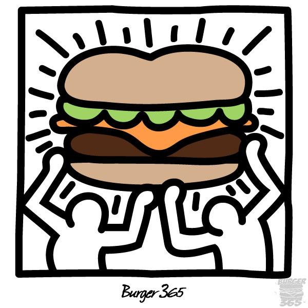 Haring Inspired Burger
