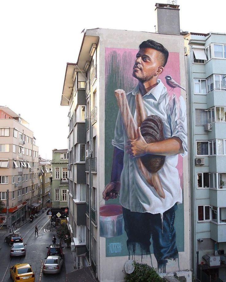 Streetart by Sasha Korban @ Istanbul, Turkey