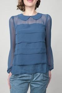 Almost Famous | Chiffon blouse | Blauwgroen | www.ourlittlewarehouse.com