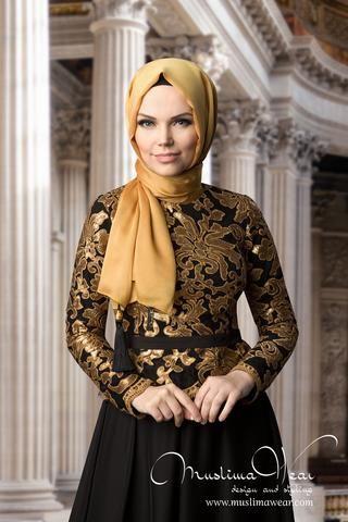 Muslima Wear Copper Color Lace Blouse Code 140500200 Hijab Style by Muslima Wear…
