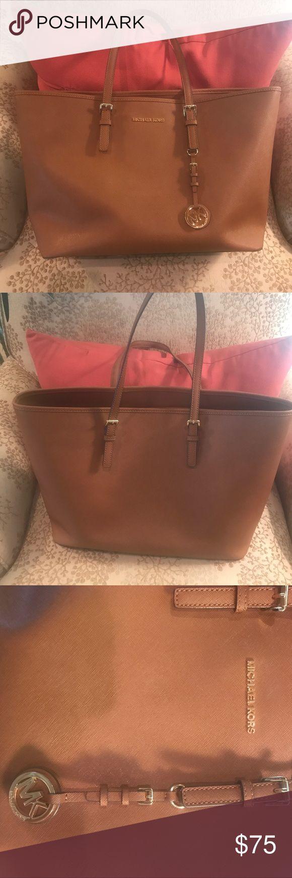 Michael Kors Jet Set Tote w/ original bag Brown Michael Kors Jet Set Large Leather Tote Bag with original bag Bags Totes