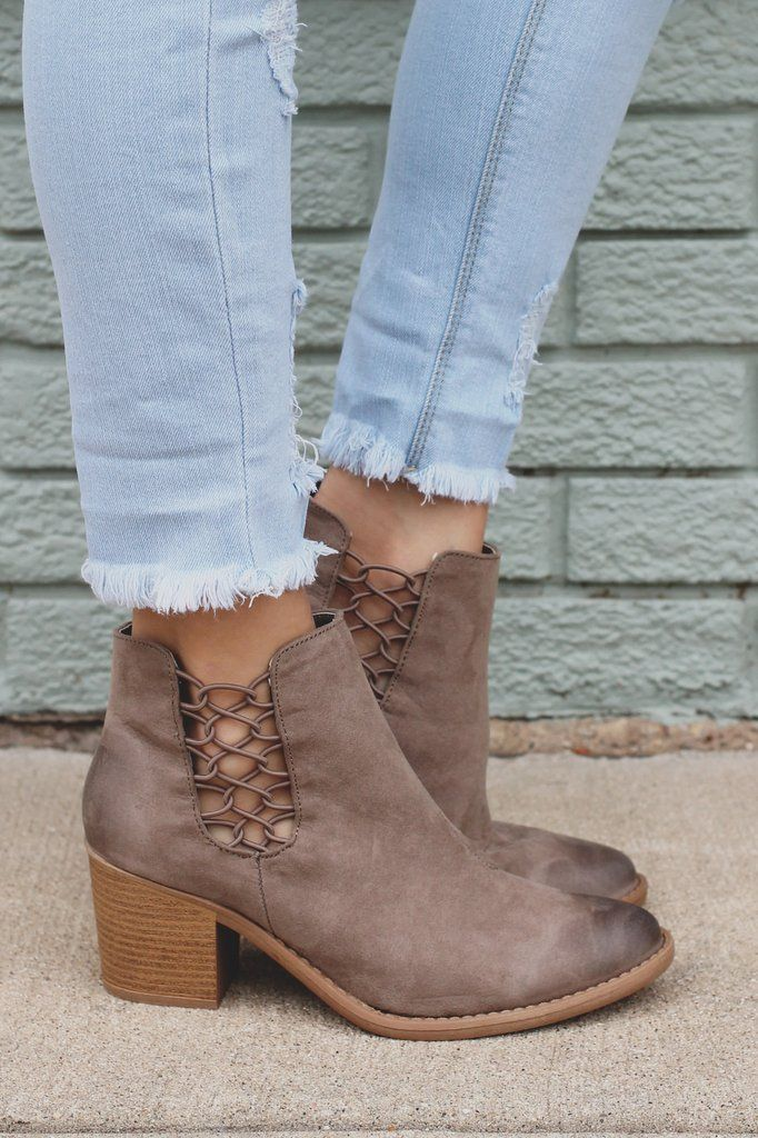 Strappy Cutout Ankle Almond Toe Booties Tobin-42 – UOIOnline.com: Women's Clothing Boutique