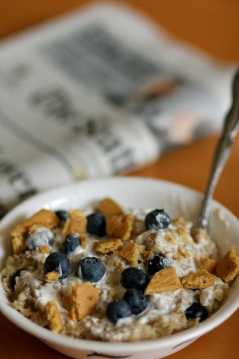Blueberry Graham Cheesecake Oatmeal