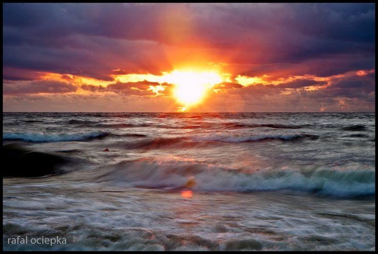 krynica morska, sunset http://www.krynicamorska.pw