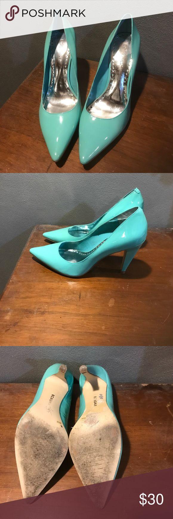 BCBG Aqua Heels BCBG Girls Aqua Heels size us: 8 1/2. In gently used condition. 4inch heel. BCBG Shoes Heels