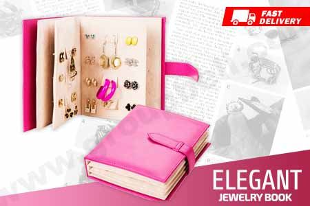 Elegant Jewelry Book tempat simpan perhiasan & aksesoris bentuk buku mudah dibawa hanya Rp 119.000 http://www.groupbeli.com/view.php?id=883