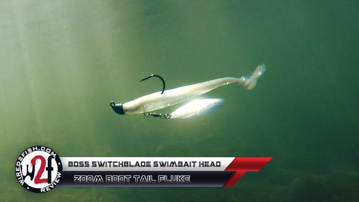 Boss switchblade swimbait head w zoom boot tail fluke
