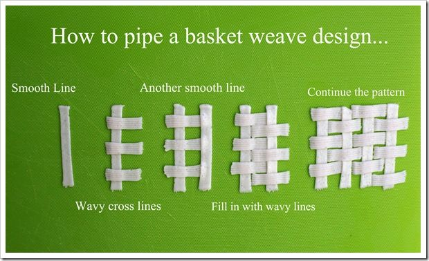 How To Basket Weave Buttercream : How to pipe a basket weave design holidays food diy