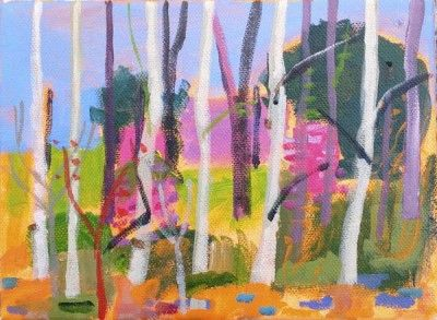 British Artist Keith MURDOCH - Silver Birch Trees