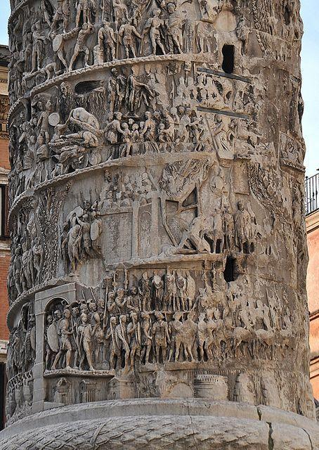 The Column of Marcus Aurelius, AD 180-192, Rome #ancientarchitecture