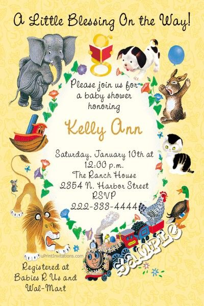 Little Golden Books Baby Shower Invitations  -  Get these invitations RIGHT NOW. Design yourself online, download and print IMMEDIATELY! Or choose my printing services. No software download is required. Free to try!