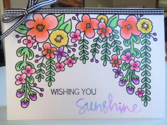 Handmade Card ... Female, Get Well, Multipurpose, Sunshine ... Avery Elle – Canopy ... Impression Obsession – Sunshine stamp set ... Simon Says Stamp – Sunshine Die ... EnchantINK
