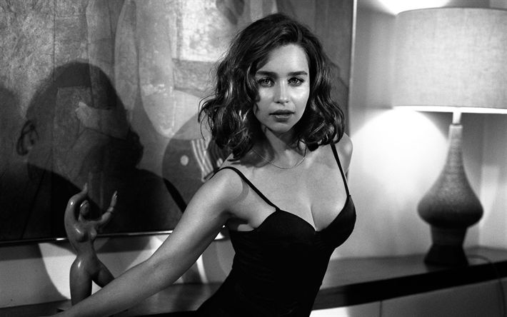 Hämta bilder Emilia Clarke, svartvitt, Hollywood, skönhet, Esquire