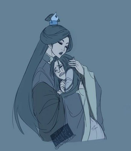 Fan Art of Azula and Ursa. I don't like Azula but this is sad.
