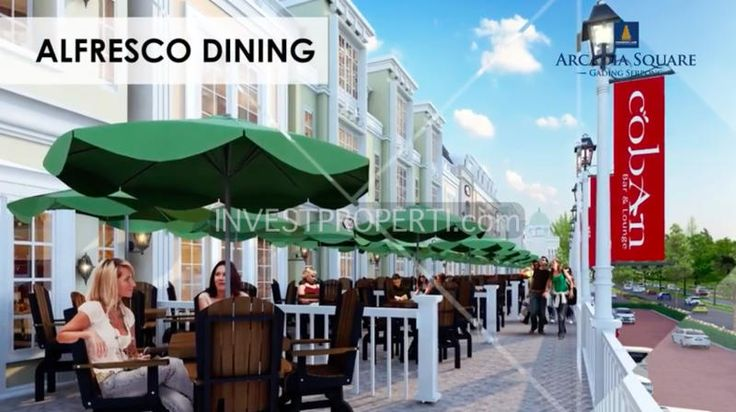 Alfresco dining @ Arcadia Square Gading Serpong shophouses