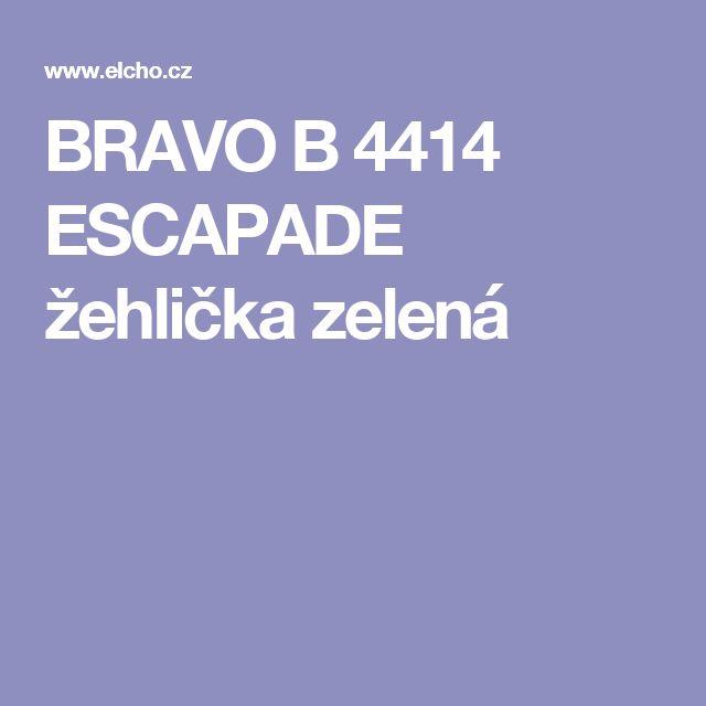 BRAVO B 4414 ESCAPADE žehlička zelená