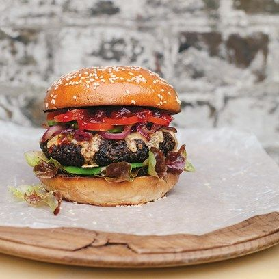 Veggie Burger - Healthy & Easy to make - by Anna Jones on HOUSE by House & Garden. A healthy recipe by vegetarian author and chef Anna Jones