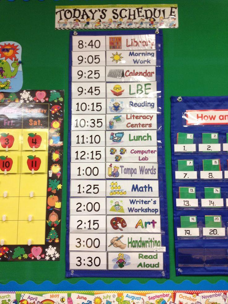 Classroom Calendar Ideas ~ Best daily schedule cards ideas on pinterest