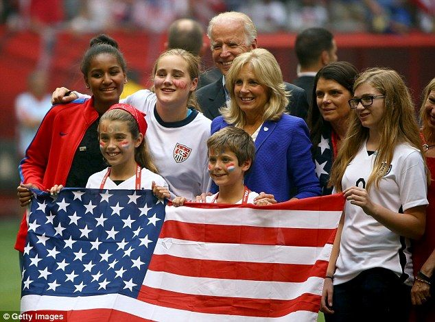 Joe and Jill Biden take Sasha Obama and Beau Biden's young children to the ... Jill Ellis  #JillEllis