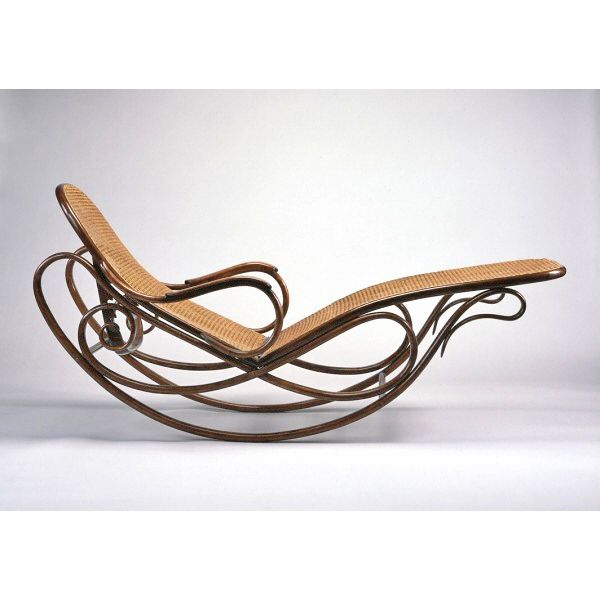 Rocking lounge chair for garden or conservatory. Period of Art Nouveau?