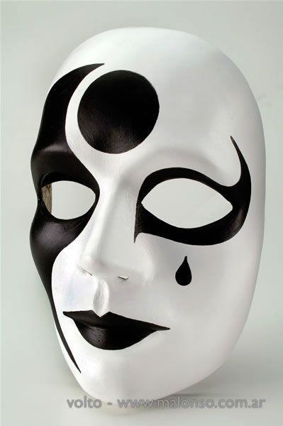 mascara yeso de mimo - Buscar con Google