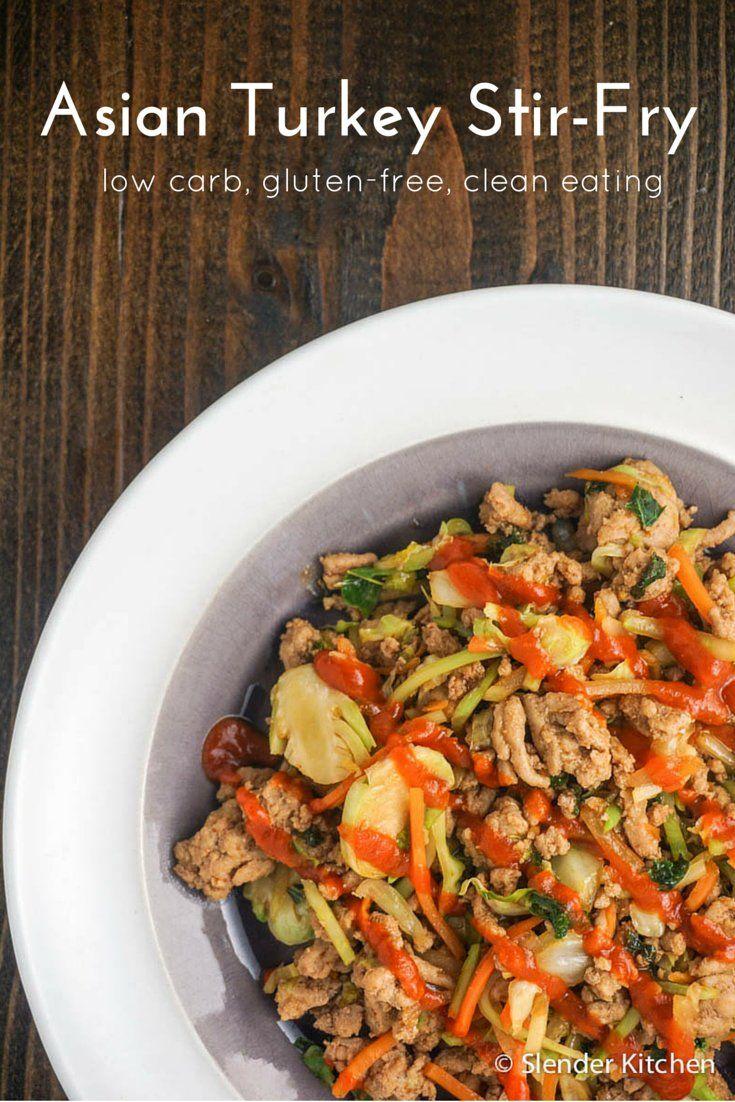 Asian Ground Turkey Stir-Fry   Slender Kitchen