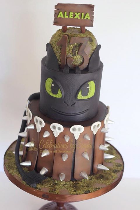 How to Train Your Dragon cake - For all your cake decorating supplies, please visit craftcompany.co.uk