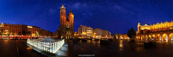 https://flic.kr/p/fHM6aL | Cracow under the stars | St. Mary's Basilica, Cracow, Poland