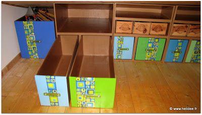 1000 images about meubles rangement sous pente en carton. Black Bedroom Furniture Sets. Home Design Ideas