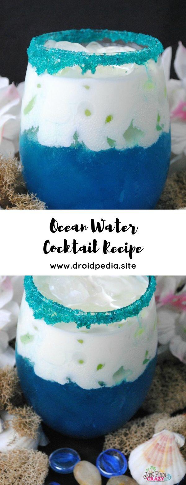 Ocean Water Cocktail Recipe #summerdrink #cocktail