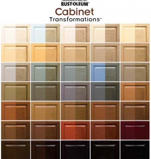 Rust-Oleum Cabinet Transformations Colors