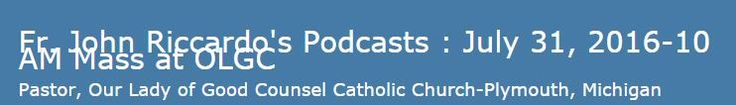 Amazing Podcast on Prayer and Fasting for our Nation by Fr. John Ricardo http://stanastasia.libsyn.com/july-31-2016-10-am-mass-at-olgc