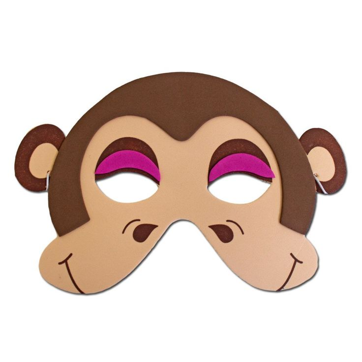Childrens Masks - Brown Monkey Childrens Foam Animal Mask #2