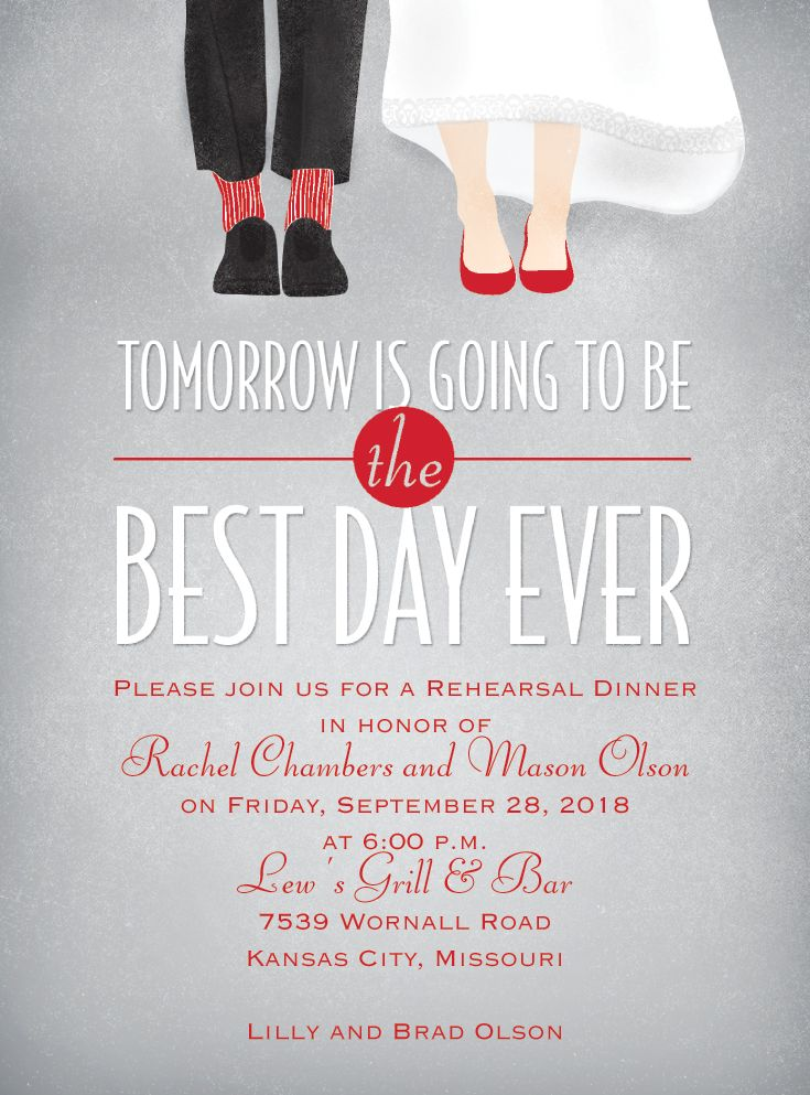 Best Day Ever rehearsal dinner invitation Choose