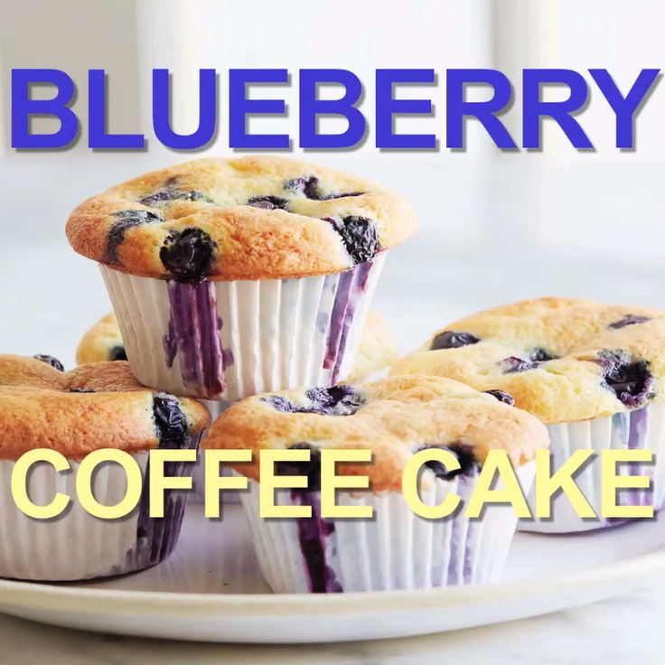 These Blueberry Coffee Cake Muffins are incredibly easy to make and can be prepared ahead of time for even less time spent in the kitchen!