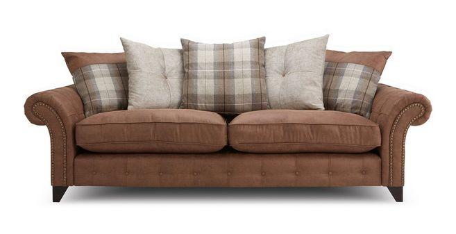 Attirant Fairfield 4 Seater Pillow Back Sofa Oakland | DFS