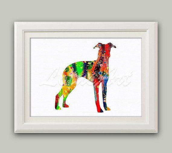 Greyhound Watercolor Print Greyhound Wall Art Nursery Art Greyhound Print Lover Gift Greyhound Poster Kids Room De Animal Wall Art Nursery Wall Art Nursery Art