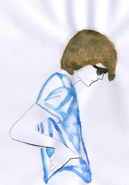 Enrico #illustration #watercolour #venicebeach  http://dettapini.blogspot.it/2012/08/amico-acquerellabile.html